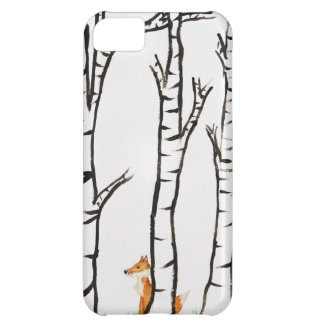 Lonely Fox in Birch Trees iPhone 5C Cover