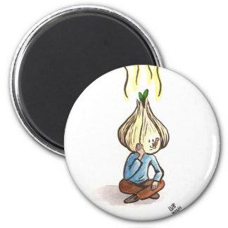 Lonely Garlic Boy Magnet