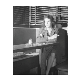 Lonely Girl at a Bar, 1943 Canvas Print