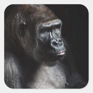Lonely Gorilla Square Sticker