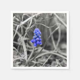 Lonely Grape Hyacinth Select Color Napkin