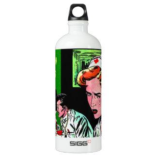 Lonely Heart Nurse - Love Romance Art Aluminum Water Bottle