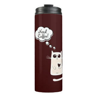 Lonely Hearts Cat Thermal Tumbler