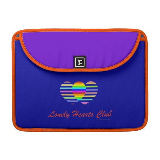 Lonely Hearts Club. Gay Pride Design Sleeve For MacBook Pro