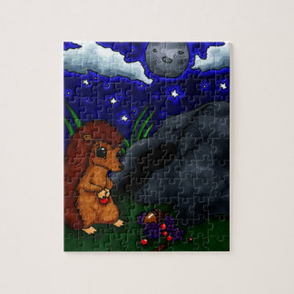 Lonely Hedgehog at night Jigsaw Puzzles