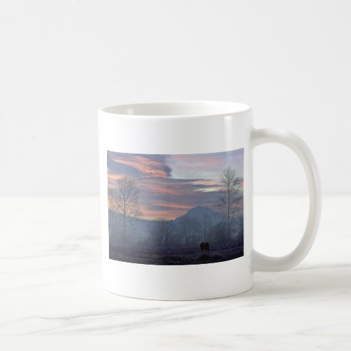 Lonely Horse Grazing Mugs