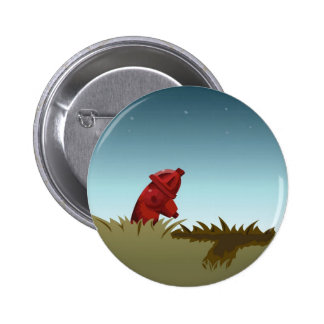 Lonely Hydrant Pinback Button