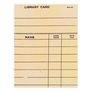 Lonely Library Card Postcard