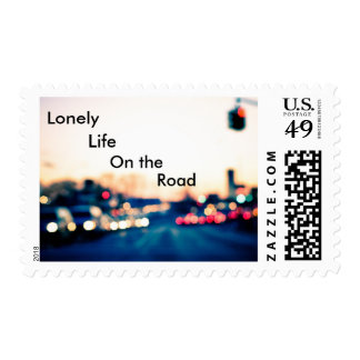 Lonely life on the road postage