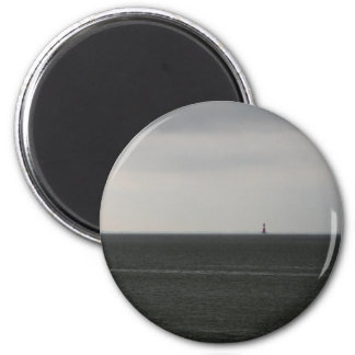 Lonely Lighthouse 2 Inch Round Magnet