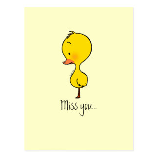 Lonely little duckling postcard
