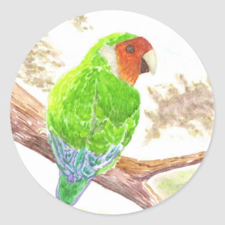 Lonely Lovebird Classic Round Sticker