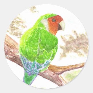 Lonely Lovebird Round Stickers