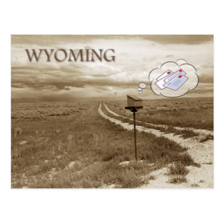 Lonely mailbox in Wyoming Postcard