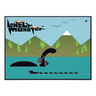 Lonely Monster Birdwatcher Photo Print