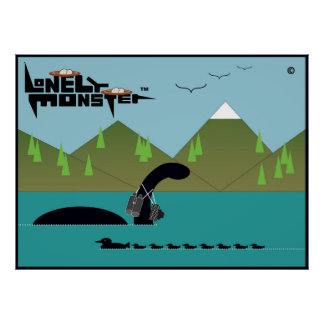Lonely Monster Birdwatcher Poster