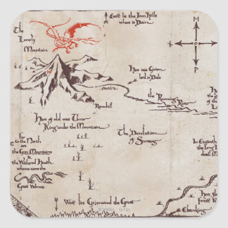 Lonely Mountain Square Sticker