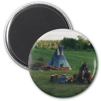 Lonely Native American Indian Magnet