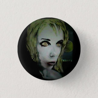 'Lonely Night Ghoul' on a button