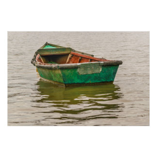 Lonely Old Fishing Boat at Santa Lucia River Poster