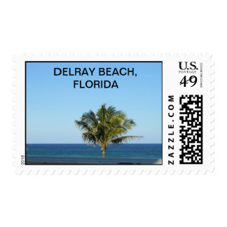 Lonely Palm Tree Postage