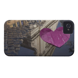 Lonely paper heart floating in a puddle. iPhone 4 case