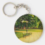 Lonely Park Bench Basic Round Button Keychain