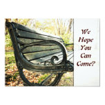 Lonely Park Bench Invitation
