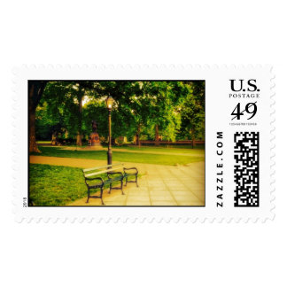 Lonely Park Bench Postage