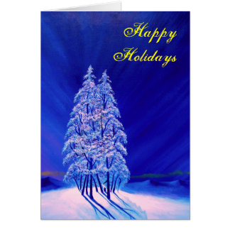 Lonely Purple Trees Card