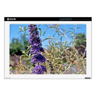 Lonely Purple Wildflowers Laptop Skin