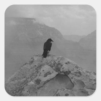 Lonely Raven Square Sticker