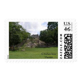 Lonely Ruin in Chichen Itza Stamp