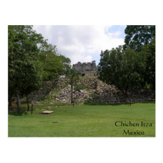 Lonely Ruin in Chichen Itza Postcard