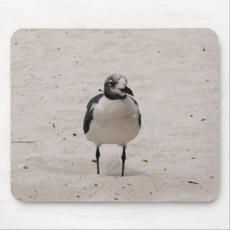 Lonely seagull mouse pad