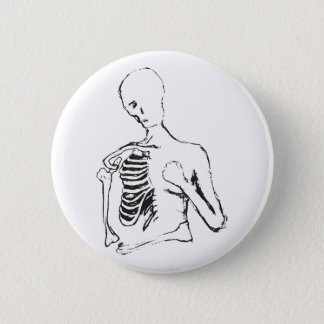 lonely skele pinback button