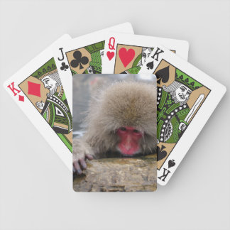 Lonely snow monkey in Nagano, Japan Bicycle Playing Cards