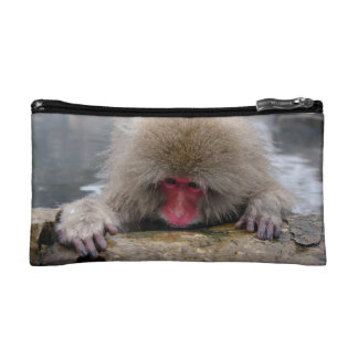 Lonely snow monkey in Nagano, Japan Cosmetic Bag