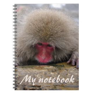 Lonely snow monkey in Nagano, Japan Spiral Notebook