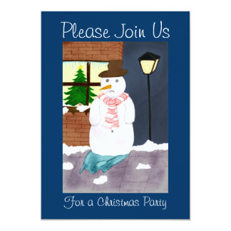 Lonely Snowman Card