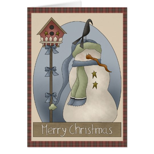 Lonely Snowman Christmas Card