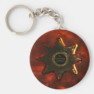 Lonely star wild west vintage style keychain