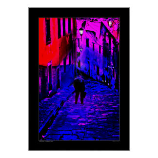 Lonely Street - Guanajuato, Mexico Poster