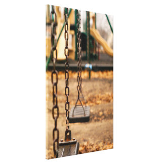 Lonely Swings Stretched Canvas Print