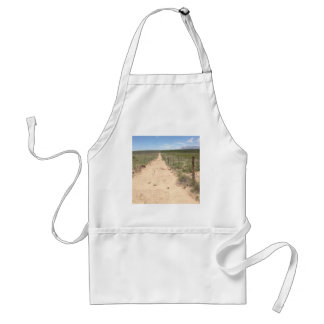 Lonely trail in East Texas with Guadalupe peak Adult Apron