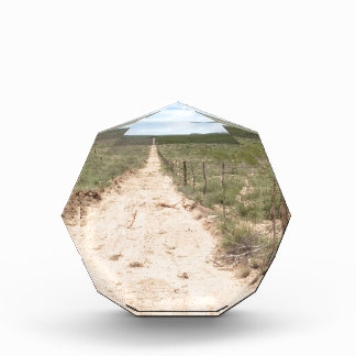 Lonely trail in East Texas with Guadalupe peak Award