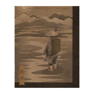 "Lonely Traveller 8""x10"" photo cork-paper print Queork Photo Prints"