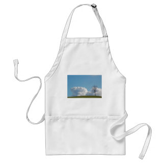 Lonely tree adult apron