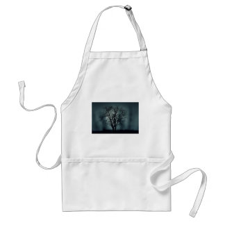 Lonely Tree at Night Adult Apron
