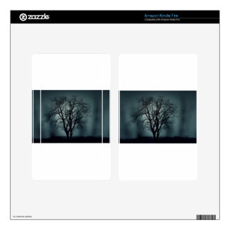 Lonely Tree at Night Kindle Fire Skin
